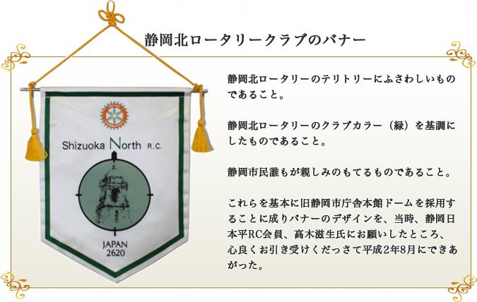 静岡北ロータリークラブのバナー